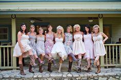 vestido de noiva com botas