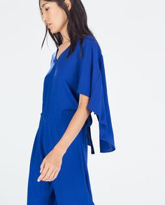 ZARA - WOMAN - LOW-CUT JUMPSUIT WITH V-BACK