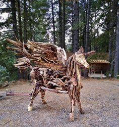 Unicogaso Magic Giraffe, Lion Sculpture, 1, Magic, Statue, Animals, Sculptures, Artists, Felt Giraffe