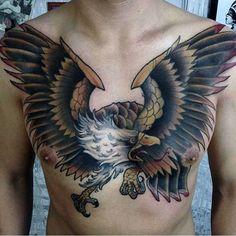 Men Eagle Tattoo