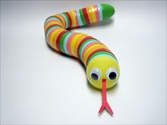 Make this cute snake toy by upcycling plastic Easter egg containers for kids or grandkids.