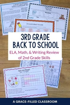 Get your school year started with your 3rd grade students with these easy to use back to school printables. Use during the first week to review 2nd grade skills. These are skills that a 3rd grader should be able to do independently making it perfect for the first few days of school when you're teaching and practicing rules