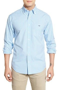 Vineyard Vines 'Corozo Gingham - Tucker' Slim Fit Sport Shirt available at #Nordstrom