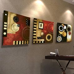 Free shipping canvas painting 3panels The Abstract Painting Canvas Living Room wall art  Home Decoration Modern Painting