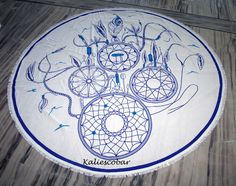 "New Printed Desing Round Mandala Hippie Table Cloth Bohemian Bitch Towel 80""Inch #Handmade #ArtDecoStyle"