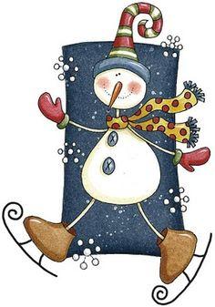 Un bonhomme de neige en patin à glace? Pourquoi pas... Tout est possible lorsque vous venez peindre au Crackpot Café!