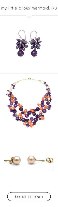 """my little bijoux mermaid. lku"" by hella-von-felis ❤ liked on Polyvore featuring jewelry, earrings, cluster, pearl, pearl jewellery, novica jewelry, pearl earrings, grey earrings, gray earrings and necklaces"