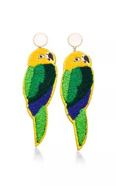 Parrot Earrings by Masterpeace Now Available on Moda Operandi