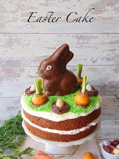 Tarta de zanahoria del conejo de Pascua-Easter bunny carrot cake