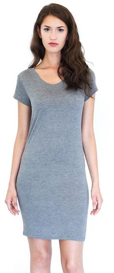 Made in USA! Women's Bamboo Organic Tee Dress This stylish, bamboo organic tee dress is perfect for a night out! Combining a very sustainable resource like bamboo with organic cotton provides a silky