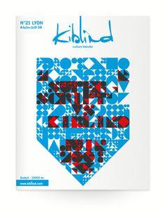 Kiblind 21  Design graphique — édition , 2008    Experimentation typographique basée sur une grille simple. Caractère utilisé pour la couverture du numéro 21 de la revue Kibllind. Typography Letters, Hand Lettering, Graphic Design Typography, Branding Design, Design Graphique, N21, Editorial Design, Creative Inspiration, Letterpress