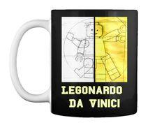 Legonardo Da Vinici Black T-Shirt Front Funny Tshirts, Just For You, Mugs, Awesome, T Shirt, Black, Supreme T Shirt, Tee Shirt, Black People