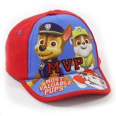 NEW Toddler Boys Baseball Cap Paw Patrol Adjustable Hat Rescue Dogs Spies Blue