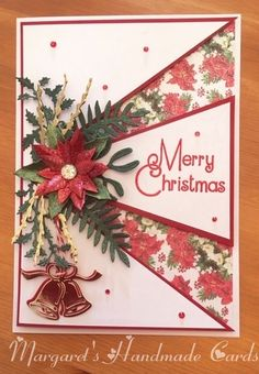 A different layout to this two channel card. Dyi Christmas Cards, Christmas Greeting Cards, Christmas Greetings, Greeting Cards Handmade, Holiday Cards, Handmade Christmas, Winter Karten, Poinsettia Cards, Winter Cards