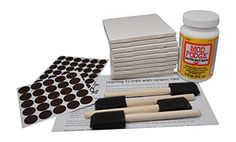 Annys Coaster Tile Kit Set of 10 Glossy White Ceramic Tiles 4 14 By 4 14 Each Exclusive Guide for Tile Crafts Mod Podge 4 Sponge Craft Brushes and Felt Pads >>> Click on the image for additional details.Note:It is affiliate link to Amazon. #follower