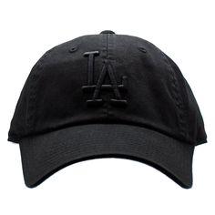 3d643405734 American Needle Los Angeles Dodgers Tonal Ballpark Raglan Baseball Hat in  Black Los Angeles Dodgers
