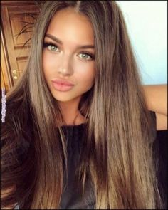 135+ most amazing makeup ideas for women page 14 Beautiful Haircuts, Pretty Hairstyles, Brown Hairstyles, Everyday Hairstyles, Ponytail Hairstyles, Long Brown Hair, Brown Hair For Green Eyes, Brown Blonde, Haircuts For Long Hair