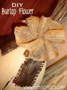 Today's DIY project will feature the following item… I know there are a million fabulous tutorials out there for burlap flowers (I did the Pinterest search), but I wanted a really simple technique tha