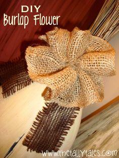 DIY: Burlap Flowers