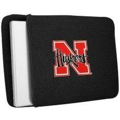 Nebraska Huskers Laptop Case by Team Promark. $19.99. Looking for a great gift for college student, university alumni, or college sports fan? Check out our officially licensed collegiate laptop case, it is a cool gift idea and functional computer accessory. Smart and sharp, the laptop sleeve is made of durable padded mesh material with embroidered team logo. It fits both notebooks and laptops 13-inch to 15-inch wide and is fun way to show your NCAA sports team spirit.
