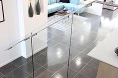 Stylish stainless steel handrail. . . . .  #stainlesssteel #staircase #interiordesign  #beautiful #design #displayhome #love #balustrade #modern #stylish