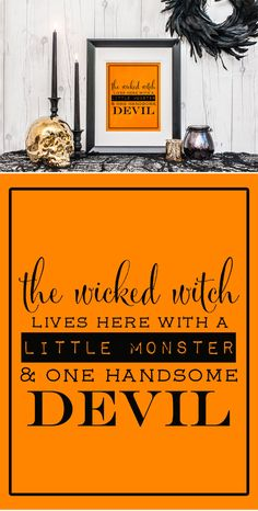 """Grab a free """"The Wicked Witch Lives Here"""" printable for an easy and quick Halloween decoration to liven your home for the holiday!"""