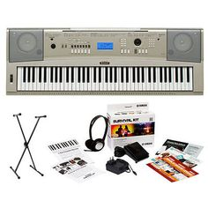 Yamaha YPG235  Portable Grand Piano Kit w/ Stand & Survival Kit  (Power Supply). List Price: $568.00 Price: $284.99 You Save: $283.01 (50%)