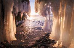 Ice cave, Lake Baikal