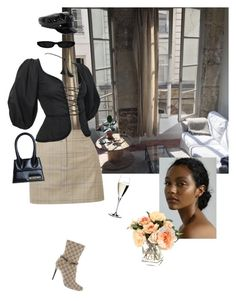 """""""Untitled #16"""" by natalieasante-1 ❤ liked on Polyvore featuring TIBI, Gucci, Yves Saint Laurent, Jacquemus, River Island and Riedel"""