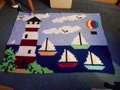 My world of crochet, Pixeldecke, afghan, crochet blanket, gehäkelte Decke