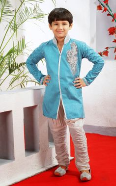 Buy online Designer kurta sherwani with breeches for boys . Shop at - http://www.gravity-fashion.com/15880-designer-kurta-sherwani-with-breeches-for-boys.html