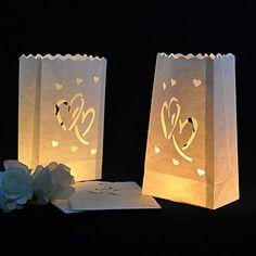 hart cut-out papier armatuur (set van 4) – EUR € 2.20