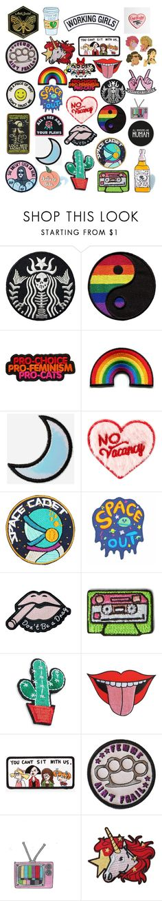 """""""Pins and patches favorites"""" by thatnerdgirlruns4themadmaninabox ❤ liked on Polyvore featuring Stoney Clover Lane, Kipling, R.J. Graziano and Azalea"""