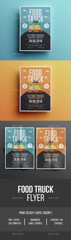 Buy Food Truck Flyer by tokosatsu on GraphicRiver. Food Truck Flyer Hello Thank for Purchasing . Template Flyer, Template Brochure, Design Brochure, Illustration Inspiration, Graphic Design Inspiration, Food Inspiration, Food Truck Design, Food Design, Web Design