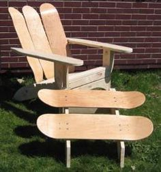 Ideas For Upcycled Furniture Design Skateboard Garden Chair