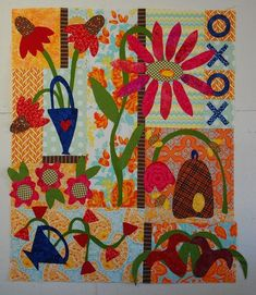 Pat sloan wild and free ver 2 Bird Patterns, Quilt Patterns, American Patchwork And Quilting, Primitive Quilts, Good Presentation, Machine Applique, Blanket Stitch, Applique Quilts, Quilt Making