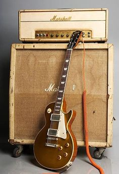 A Gibson guitar and a Marshall amp.it's like peanut butter and jelly. A Gibson guitar and a Marshall amp.it's like peanut butter and jelly. Guitar Rig, Music Guitar, Cool Guitar, Playing Guitar, Bass Ukulele, Guitar Hanger, Guitar Shop, Fender Telecaster, Gretsch