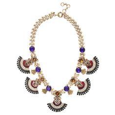 J.Crew - Jeweled fan necklace