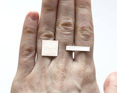 Edgy verklaring zilveren ring multifinger zilveren ring