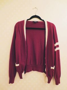 this maroon varsity cardigan.. I think it is at forever 21