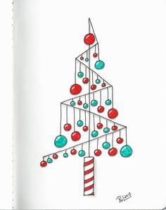 """7 of 16...Christmas trees show casing a single tangle...tangle used is """"Pomalom""""."""