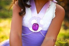 Sofia the First inspired Ribbon Necklace Dress up Amulet