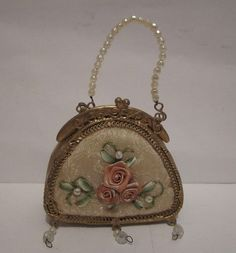 little purse with ribbon flowers