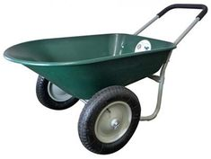 Marathon Dual-Wheel Residential Yard Rover Wheelbarrow - Green - 5 Cubic Foot Poly Tray -- Amazing product just a click away : Gardening DIY Small Garden Cart, Lawn And Garden, Garden Tools, Garden Ideas, Spring Garden, Indoor Garden, Yard Cart, Wheelbarrow Garden, Gardens