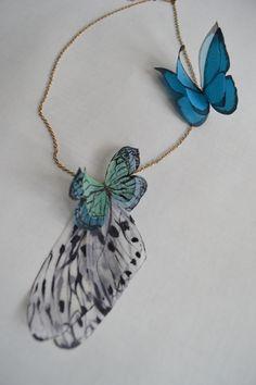 Бабочки из натурального шелка. Возможно изготовление на заказ. www.detali-71.ru
