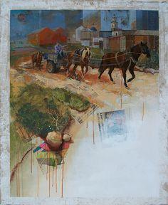 Figurativo XV - Entrenant als Cavalls 100 x 81 cm.