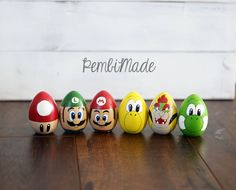 Mario Insired Character Set by PembiMade on Etsy
