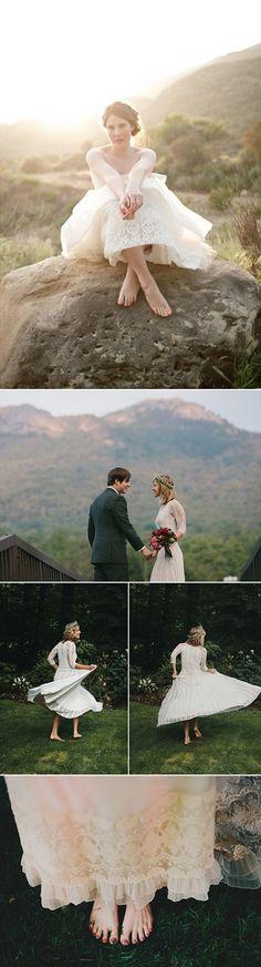 Beautiful barefoot brides