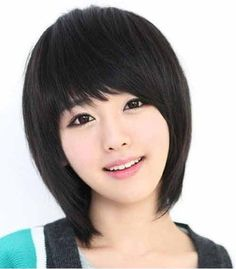 Asian short black hairstyles oval faces