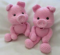 Схема для вязания розовых поросят крючком. Маленькие свинки станут отличным подарком в год свиньи…